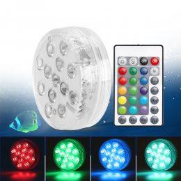 Светодиодная декоративная лампа для бассейна, плавает/тонет. 12 цветов. Пульт ДУ. (205)