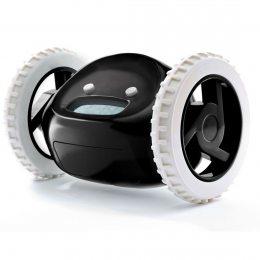 Убегающий будильник на колесах Clocky от 4-х батареек ААА черный (237)
