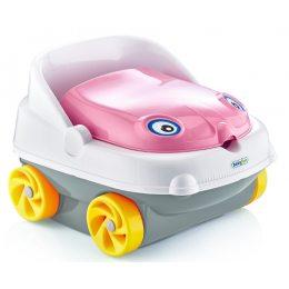 Горшок детский в виде машинки Pasa iraq baby car музыкальный розовый(205)