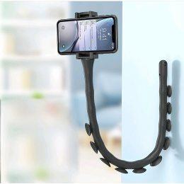 Гибкий держатель для телефона с присосками Cute Worm Lazy Holder штатив для гаджетов, черный (212)