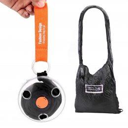 Складаная компактна сумка-шоппер ЧЕРНАЯ Sshopping bag to roll up (212)