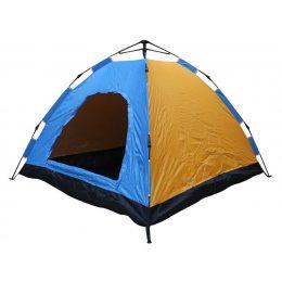 Палатка восьмиместная Hyu-282 сине-желтая, походная, для туризма