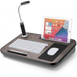 LORYERGO Lap Desk - Стол для ноутбука с подсветкой и ковриком для мыши, Портативный ноутбук (626)