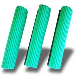 Запаска для швабры с отжимом зеленая мягкая fenix