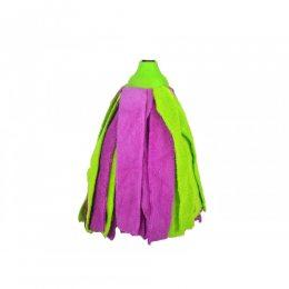Запасная насадкадля швабры микрофибра Зелено-фиолетовая