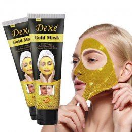 Золотая омолаживающая маска для лица Dexe 24k Gold Mask 120g маска от морщин (509)