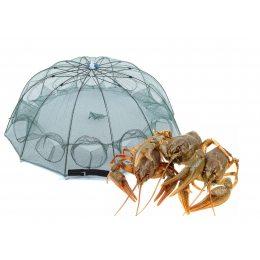 Рыболовная верша для раков, сачок зонт для раков, рачница приманка 10 входов