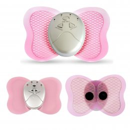 Миостимулятор бабочка электронный массажер Butterfly розовый (518)