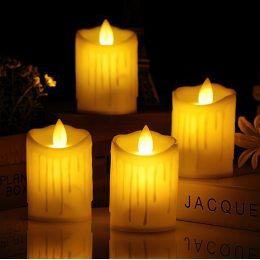 Набор электронных светодиодных свечей с имитацией живого пламени, 12 шт (518)