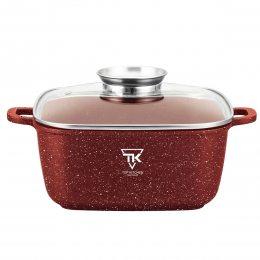 Квадратная кастрюля-казан 2,7 л мраморное покрытие Top Kitchen 20 см Бордо (t/k)