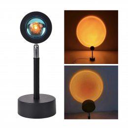Sunset Lamp проекционный светильник желтый закат USB светильник проектор 16 см (259)