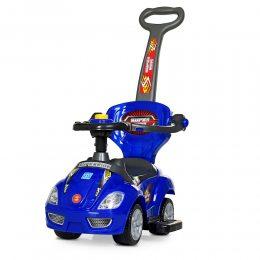 Толокар-каталка детская машинка с родительской ручкой BAMBI M 4205, синий