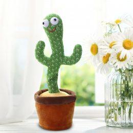 Танцующий кактус, музыкальная игрушка, Dancing Cactus TikTok кактус у вазоне 34 см (219)
