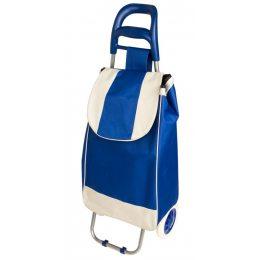Хозяйственная сумка на колесиках, кравчучка, сумка на колесах синяя