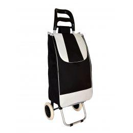 Хозяйственная сумка на колесиках, кравчучка, сумка на колесах черная