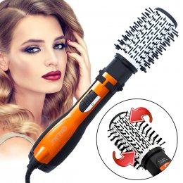 Стайлер фен-щетка для волос браш вращающаяся с насадками Gemei GM-4828 3 в 1