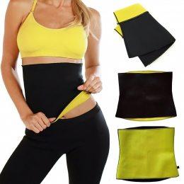 Пояс для похудения Hot Shapers цельный Черный с желтым р-р XXL