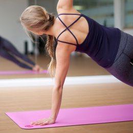 Коврик для йоги Power System Fitness Yoga Розовый