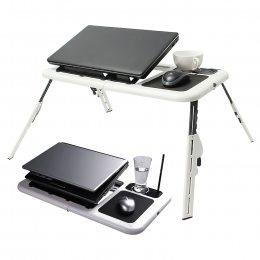 Подставка столик для ноутбука с двумя USB кулерами E-Table (M1)